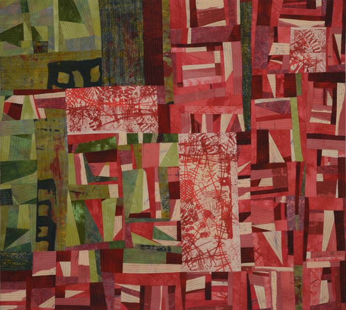 Conflict, an art quilt by Marti Plager