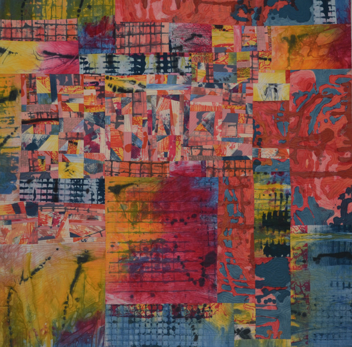 Conversation, an art quilt by Marti Plager