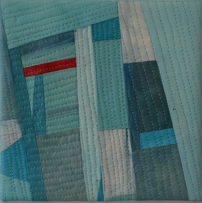 Ovarian cancer - art quilt by Marti Plager