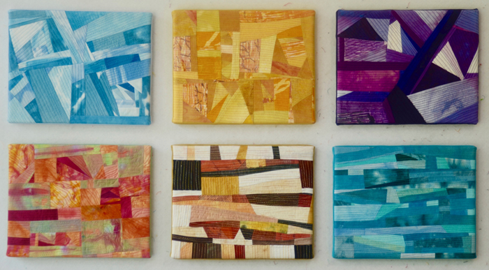 America - series of 6 art quilts by Marti Plager