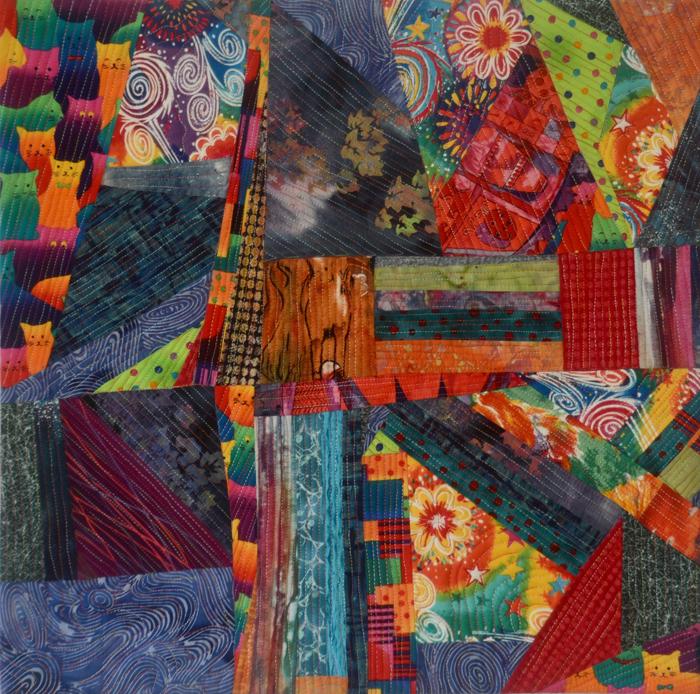Fiber art quilt by Marti Plager