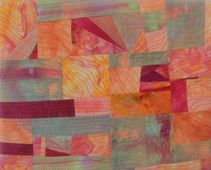 """art quilt by Marti Plager, influenced by song """"America the Beautiful"""""""